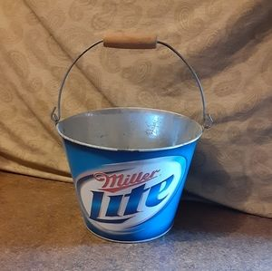 Miller Lite Metal Bucket w/ Handle
